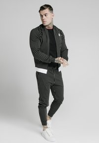 SIKSILK - PINSTRIPEJACKET - Giubbotto Bomber - black/white