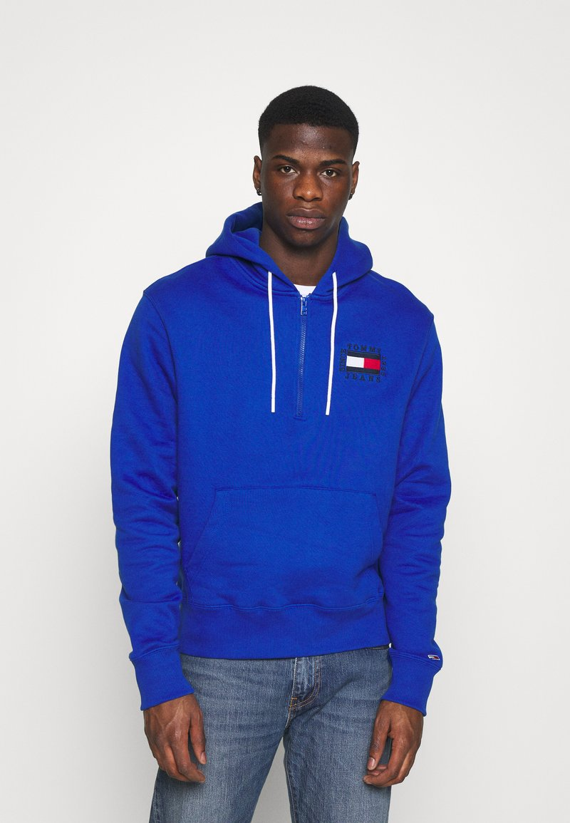 Tommy Jeans - HALF ZIP HOODIE UNISEX - Sweatshirt - providence blue