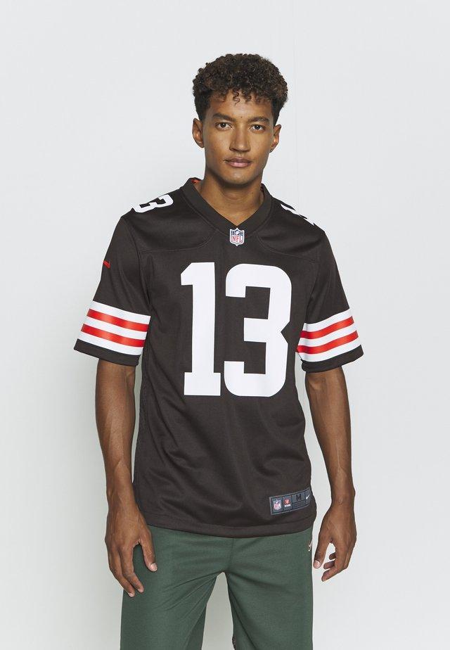 NFL CLEVELAND ODELL BECKHAM - Klubové oblečení - seal brown