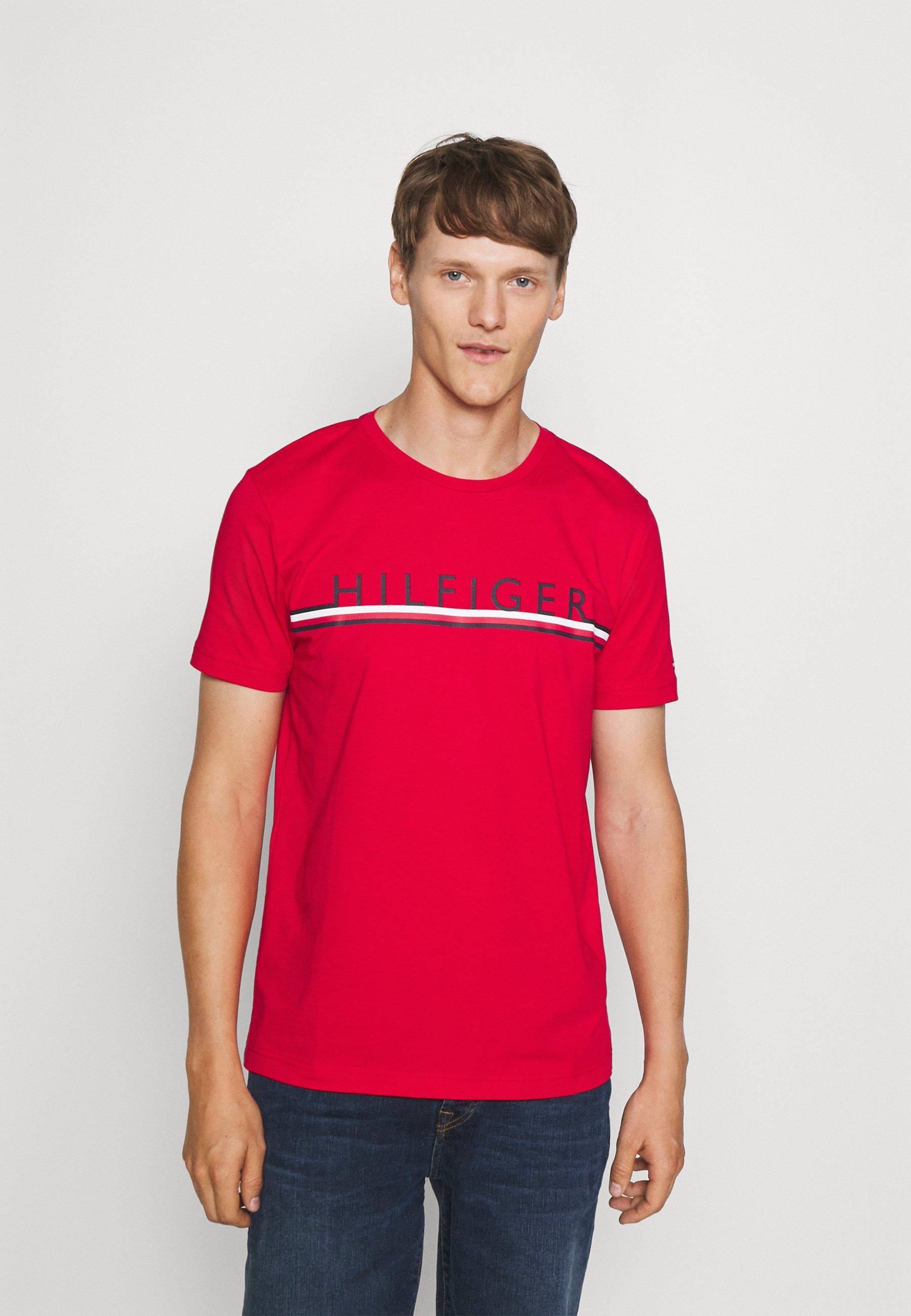 Men CORP STRIPE TEE - Print T-shirt