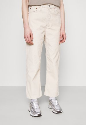 RIBCAGE STRAIGHT ANKLE - Straight leg jeans - sand shell wide wale