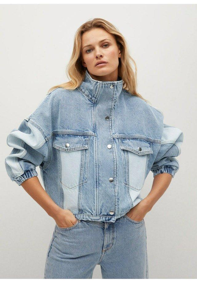 CINDY - Veste en jean - mellemblå