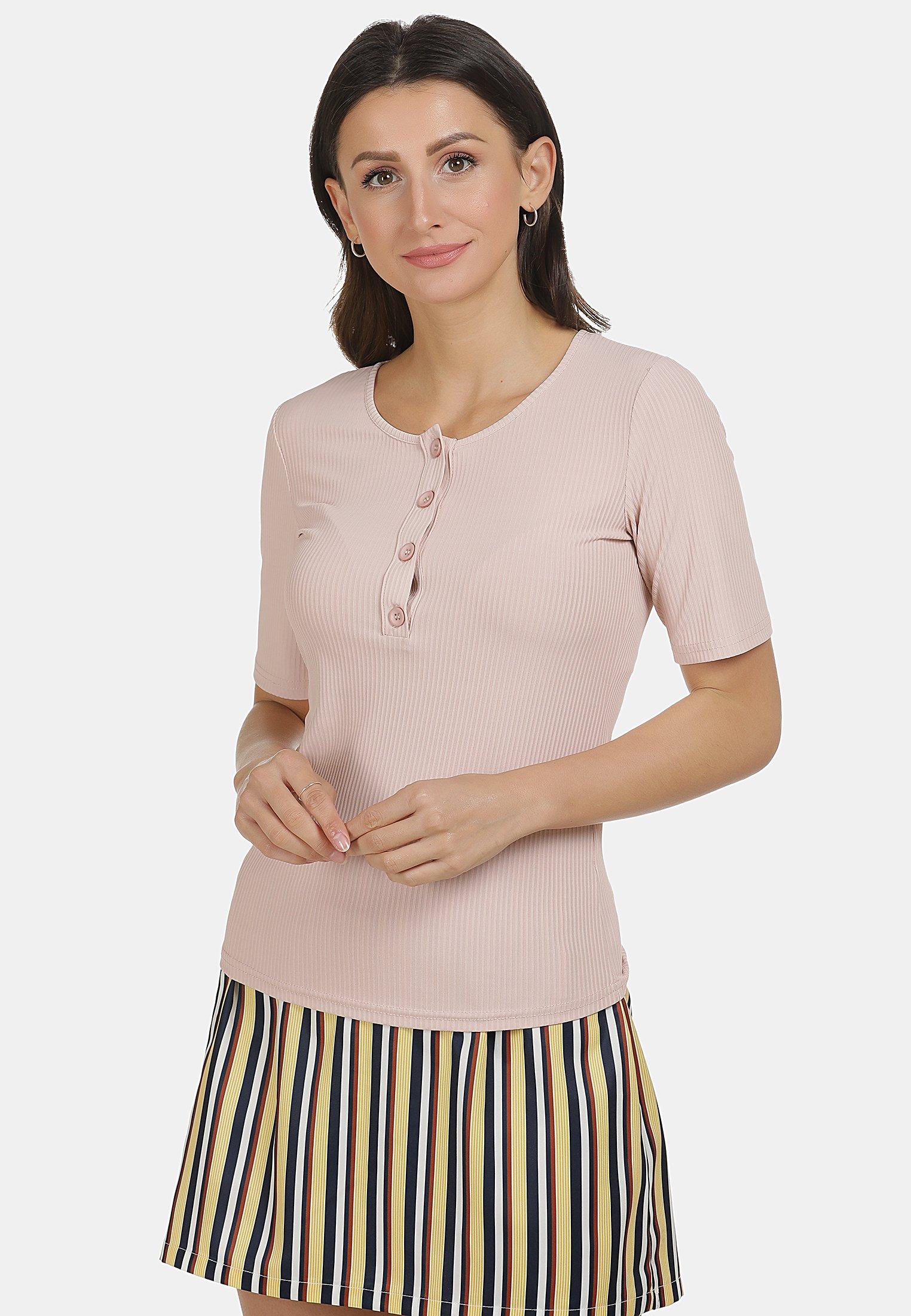 usha SHIRT - T-shirt basique - rosa - Tops & T-shirts Femme Cj2ra