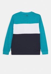 Fila - CARLOTTA BLOCKED CREW SHIRT - Sweatshirt - black iris/capri breeze/bright white - 1