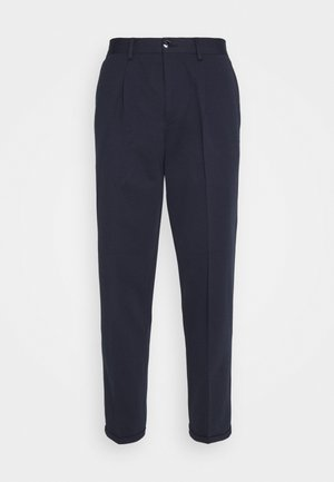 SLHSLIMTAPERED JIM FLEX ANKLE - Trousers - navy blazer