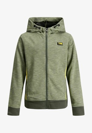 Zip-up hoodie - oil green