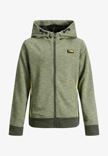 Zip-up hoodie - oil green