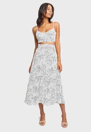 HARTLEY - A-line skirt - white black/black noir