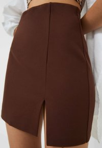 Stradivarius - A-line skirt - brown - 3