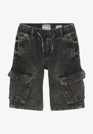 CELDO - Denim shorts - dark grey vintage