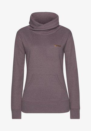 Sweatshirt - mauve-meliert