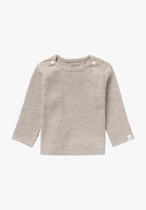 BABY TEE NATAL UNISEX - Long sleeved top - taupe melange