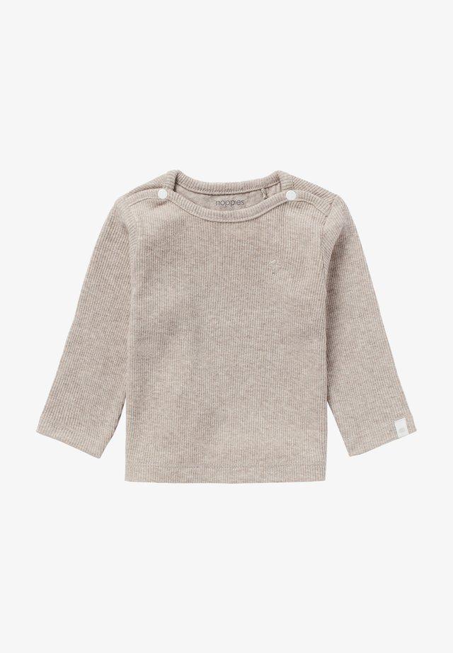 BABY TEE NATAL UNISEX - Long sleeved top - taupe melange