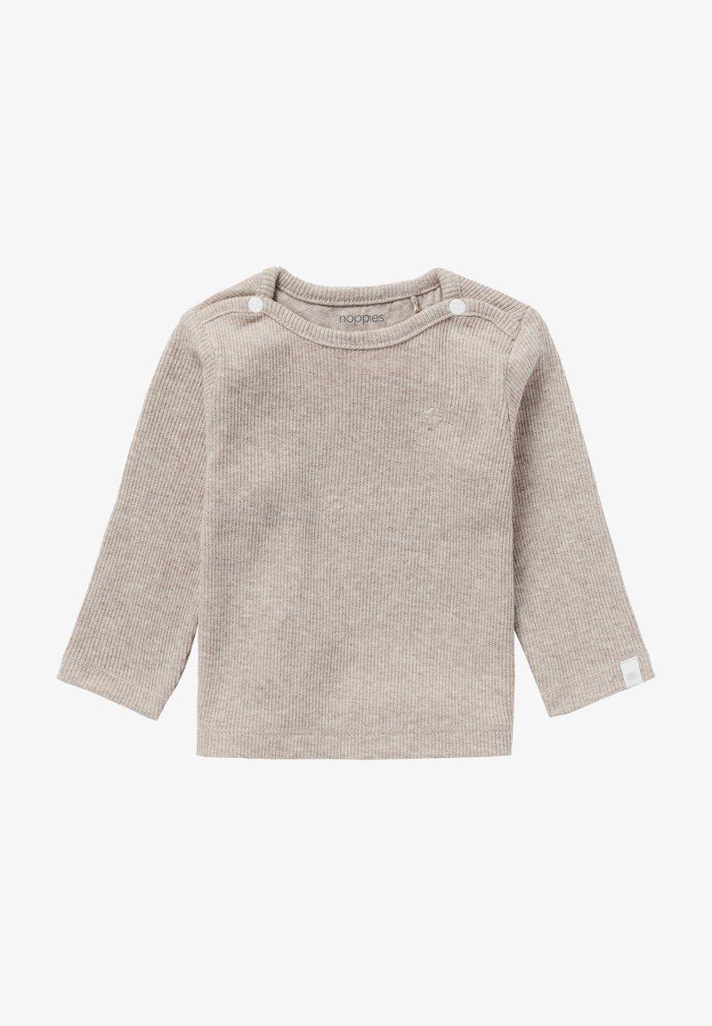 Noppies - BABY TEE NATAL UNISEX - Long sleeved top - taupe melange