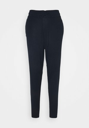 CUFFED JOGGERS WITH FRONT TIE DETAIL - Tracksuit bottoms - dark navy