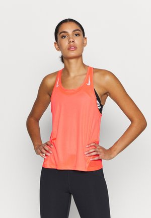 MILER TANK RACER - Sports shirt - bright crimson/reflective silver