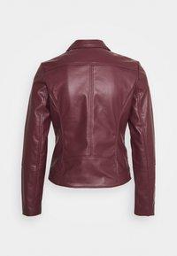 Springfield - BIKER - Faux leather jacket - red - 1