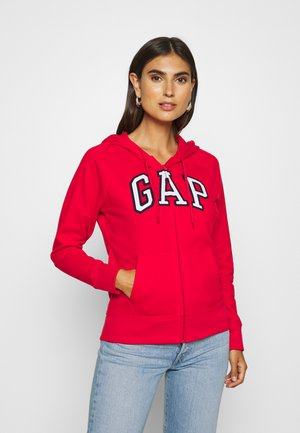 FASH - veste en sweat zippée - pure red