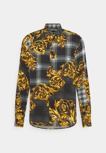 PRINT TARTAN BAROQUE - Shirt - grigio/oro