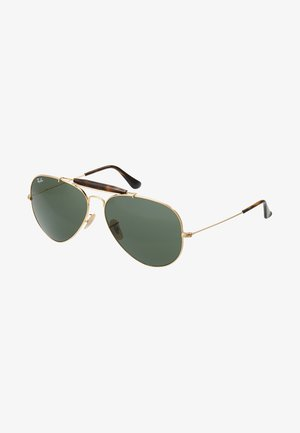 OUTDOORSMAN II - Gafas de sol - gold/dark green