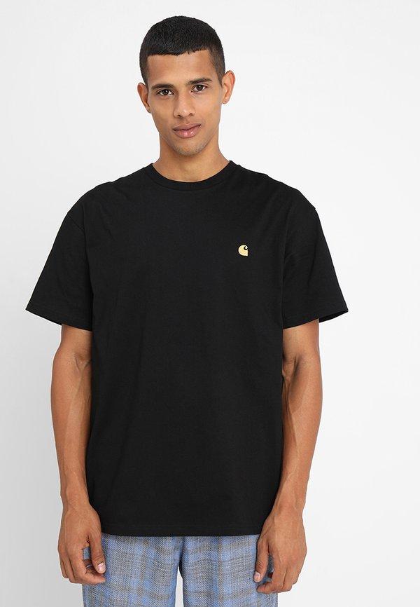 Carhartt WIP CHASE - T-shirt basic - black/gold/czarny Odzież Męska NMZR