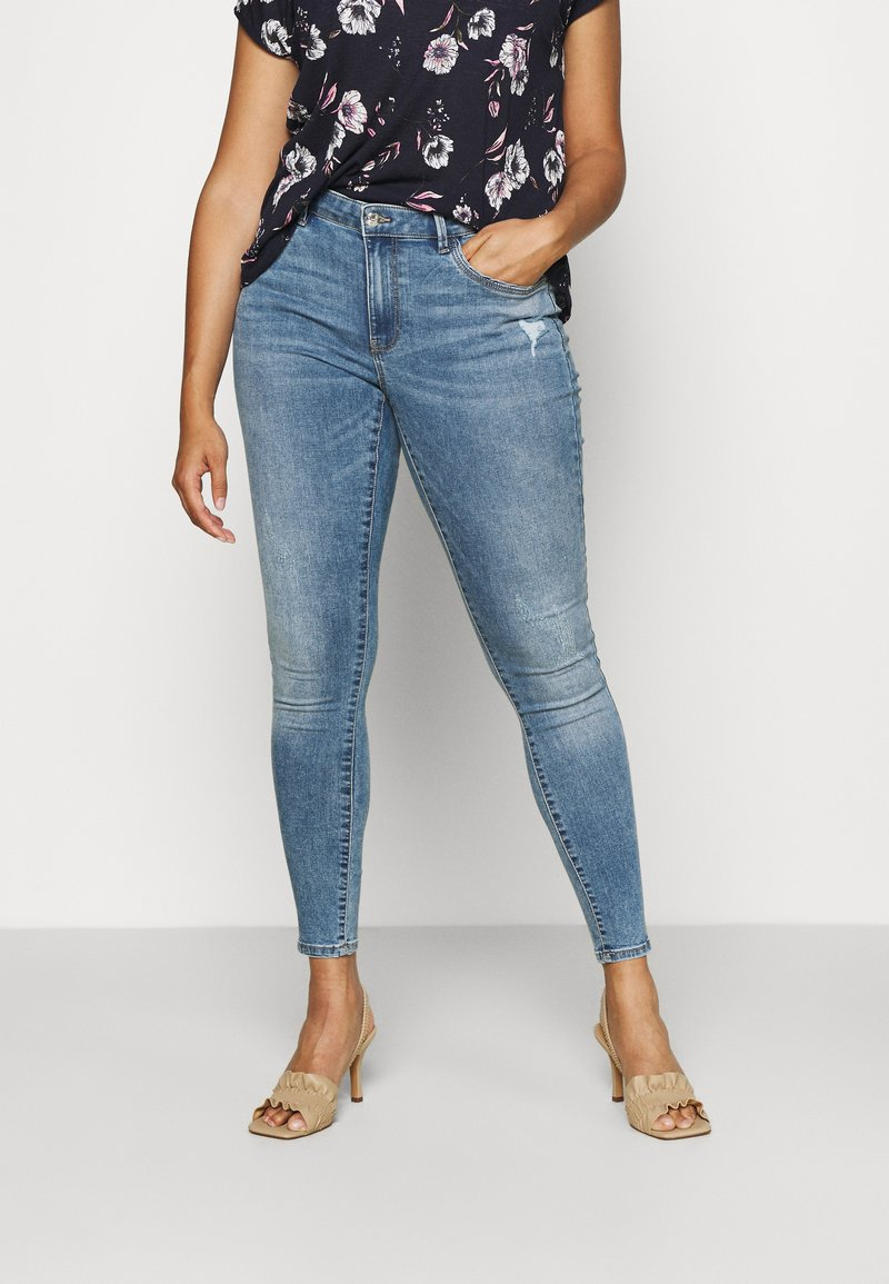 ONLY Carmakoma - CARSALLY LIFE - Jeans Skinny Fit - light blue