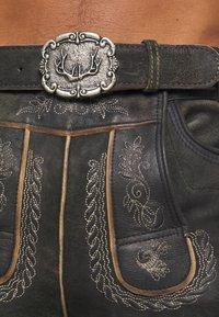 Stockerpoint - THOMAS - Kožené kalhoty - graphit vintage - 2