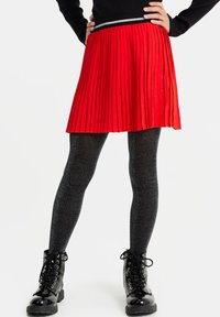 WE Fashion - MET GLITTERDETAILS - A-line skirt - bright red - 1