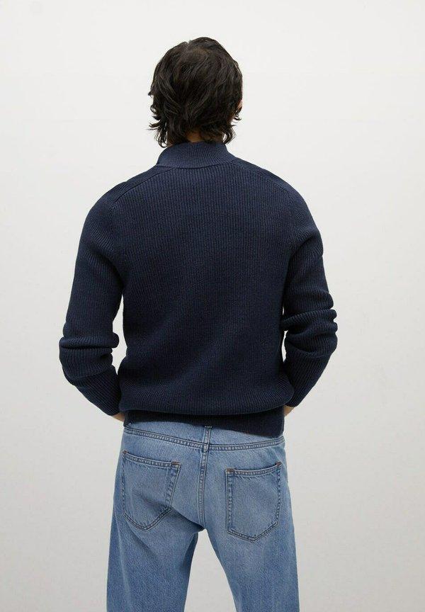 Mango BINGER - Kardigan - bleu indigo/niebieski Odzież Męska XSBC