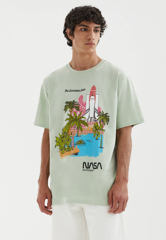 Herren NASA MIT ABBILDUNG EINER RAKETE - T-Shirt print