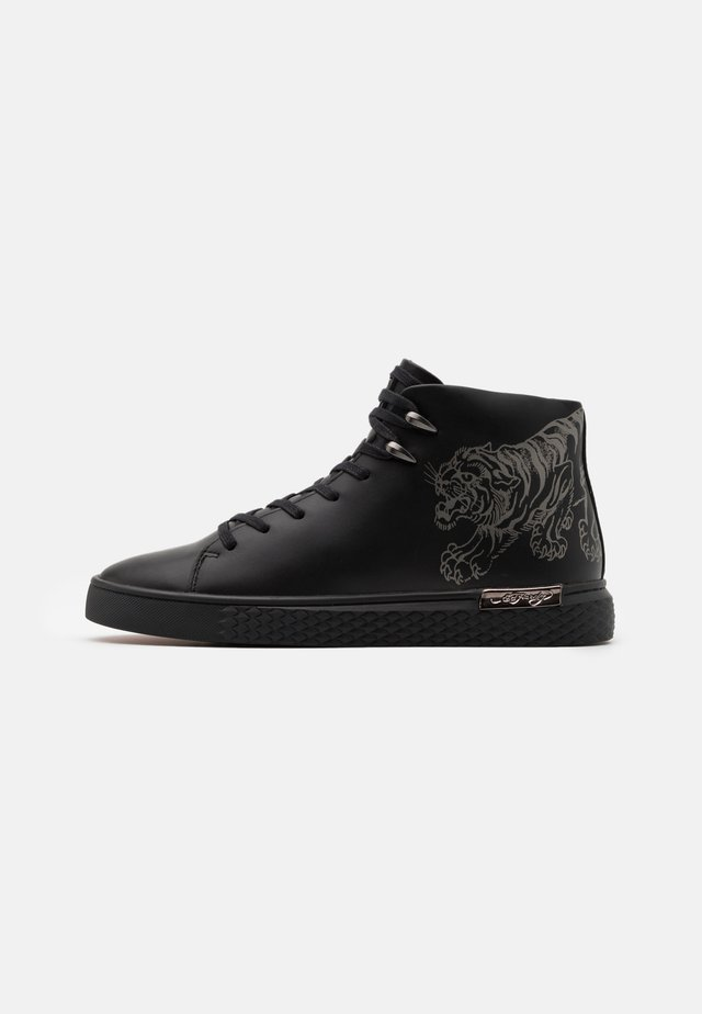 CREEPER - Korkeavartiset tennarit - black/gunmetal