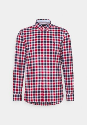 TRAVEL OXFORD CHECK - Vapaa-ajan kauluspaita - primary red/yale navy/multi