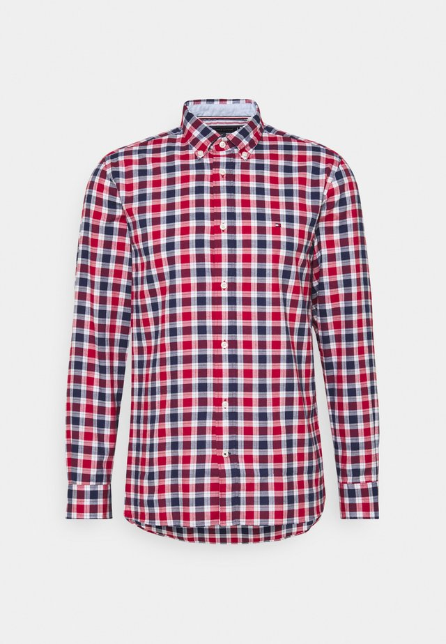TRAVEL OXFORD CHECK - Chemise - primary red/yale navy/multi