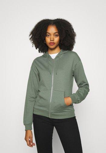 REGULAR FIT ZIP UP HOODIE JACKET - Zip-up hoodie - green