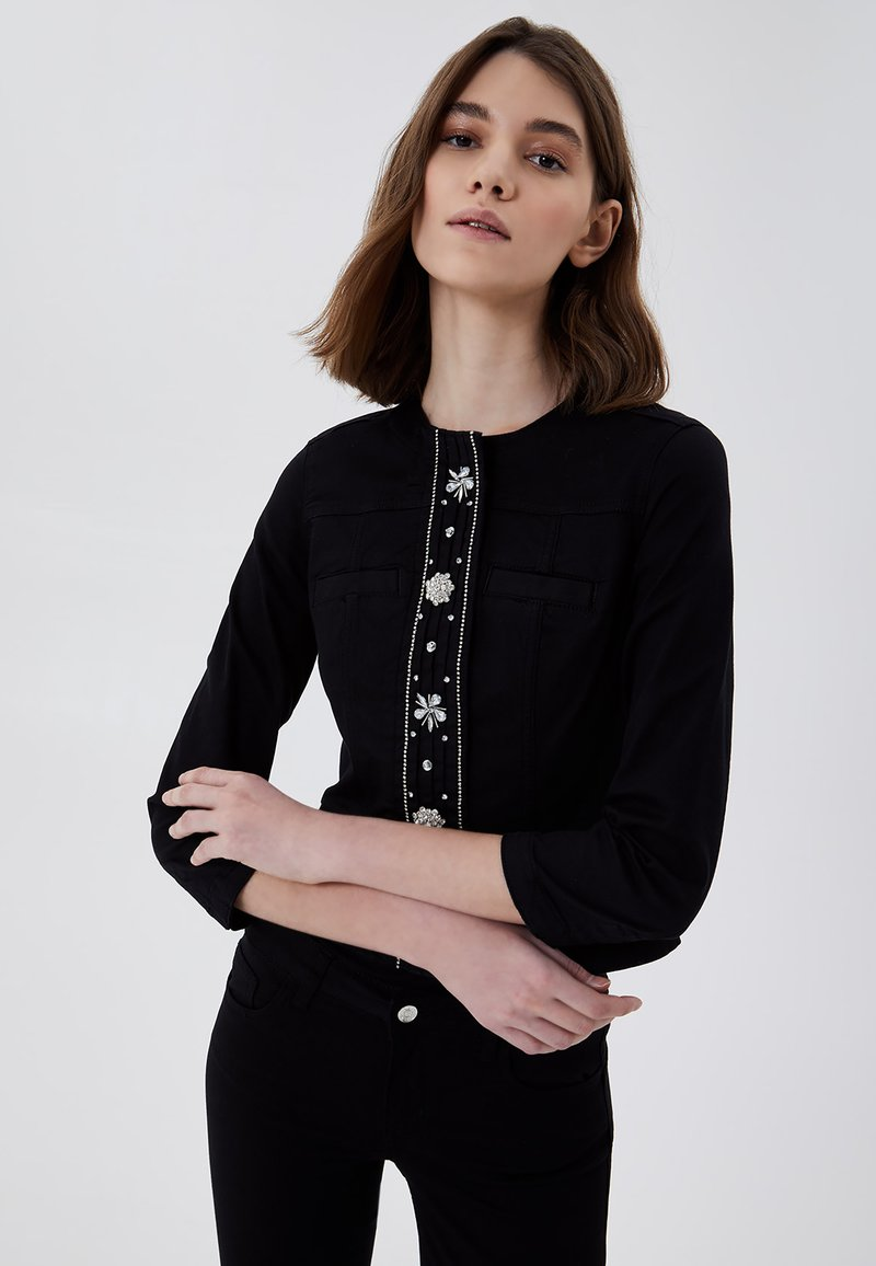 LIU JO - Summer jacket - black with appliqués