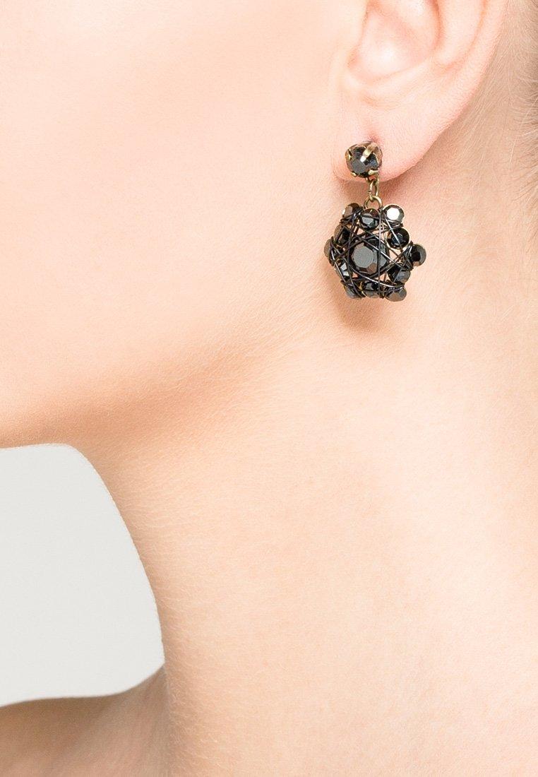 Konplott - Earrings - black/antique brass