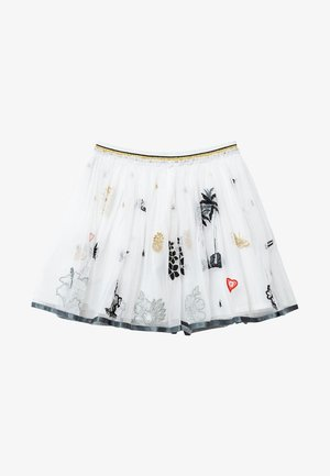 HARTFORD - Pleated skirt - white