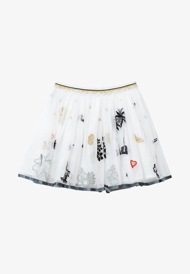 HARTFORD - Pleated skirt - white