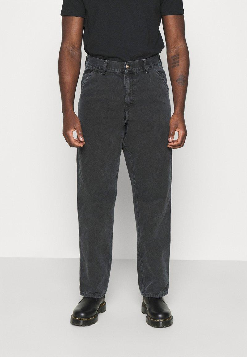 Carhartt WIP - DEARBORN SINGLE KNEE PANT - Kalhoty - black worn