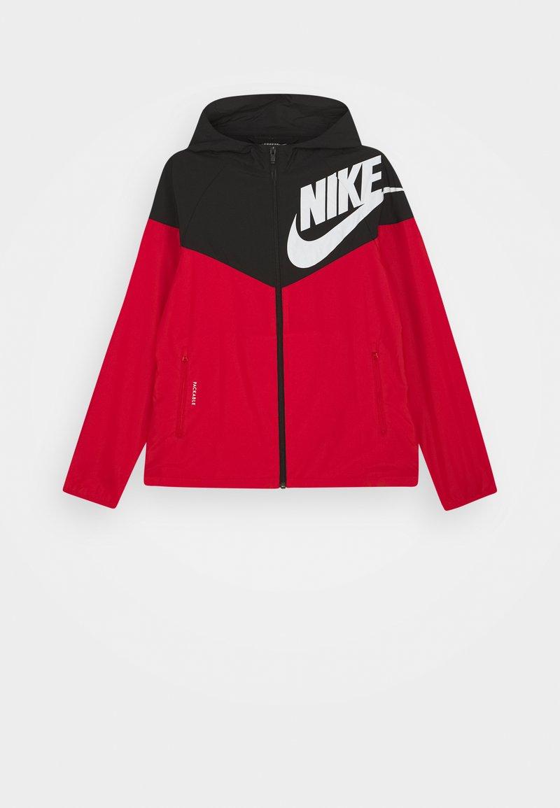 Nike Sportswear - WINDRUNNER - Training jacket - black/university red/white
