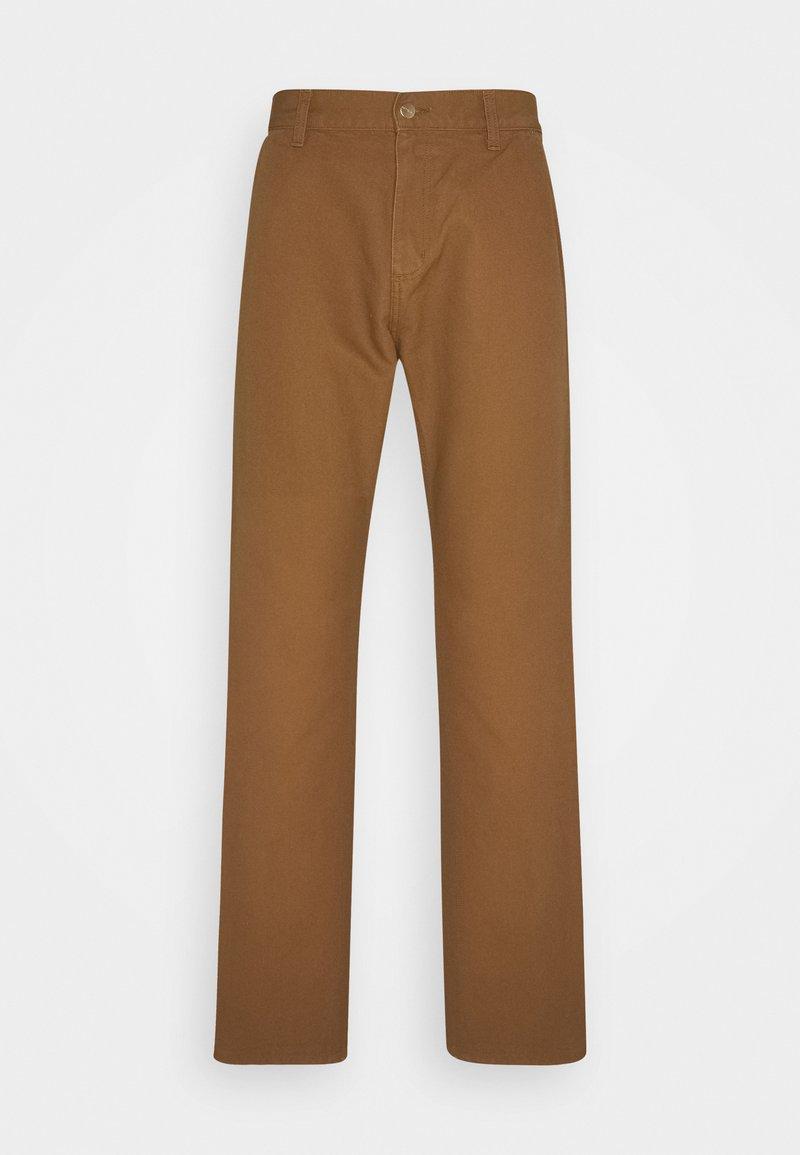Carhartt WIP - RUCK SINGLE KNEE PANT DEARBORN - Broek - hamilton brown rinsed