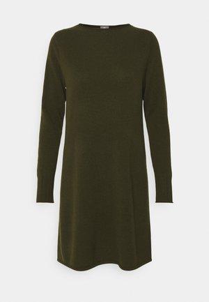 DRESS - Pletené šaty - bronze green