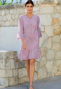 Alba Moda - Day dress - blau/koralle - 2