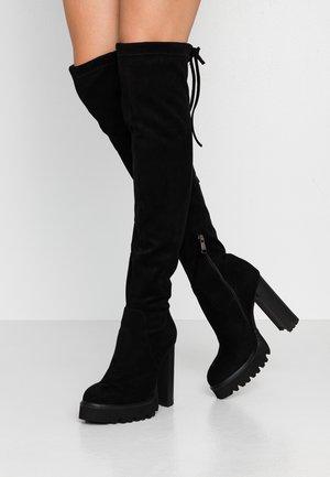 RENNA - Kozačky na vysokém podpatku - black