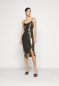 Missguided Tall - STRAPPY MIDI DRESS - Cocktail dress / Party dress - gold - 3
