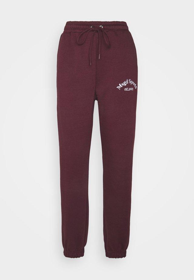 Tracksuit bottoms - burgundy