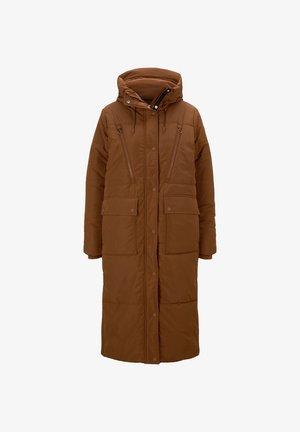 PADDED LONG COAT - Winter coat - burnt hazelnut brown
