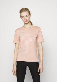 ONLY - ONLZENTA LIFE BOXY  - Print T-shirt - misty rose - 0
