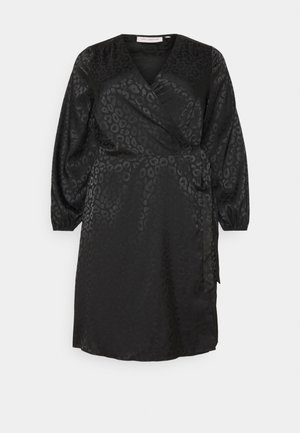 CARDAMINA WRAP KNEE DRESS - Day dress - black