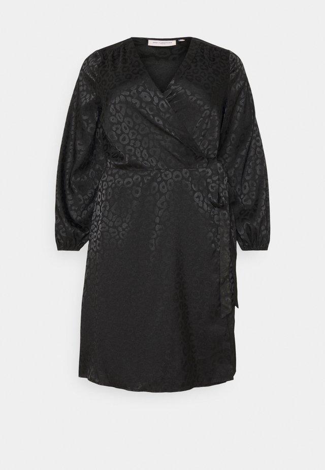 CARDAMINA WRAP KNEE DRESS - Kjole - black